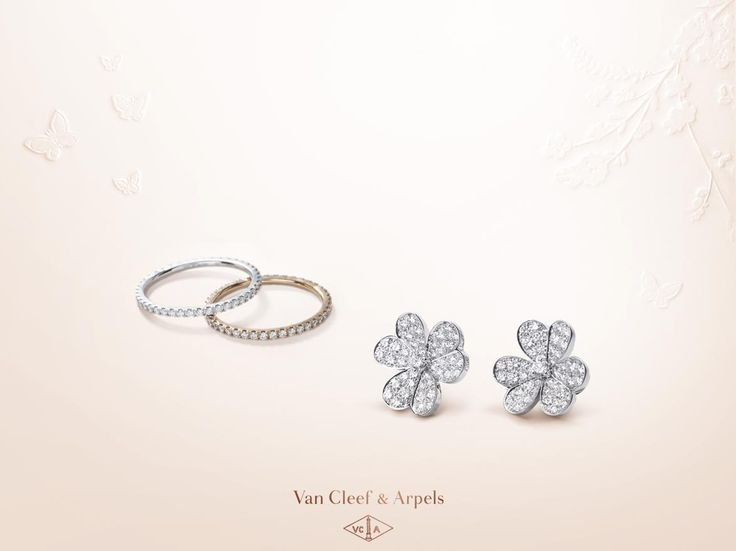 Symbol of eternity, white diamonds reveal all their sparkling purity on the Frivole earrings and Félicité rings. Offer an emotion for Mothers' Day among the Van Cleef & Arpels selection: http://goo.gl/9Etf42