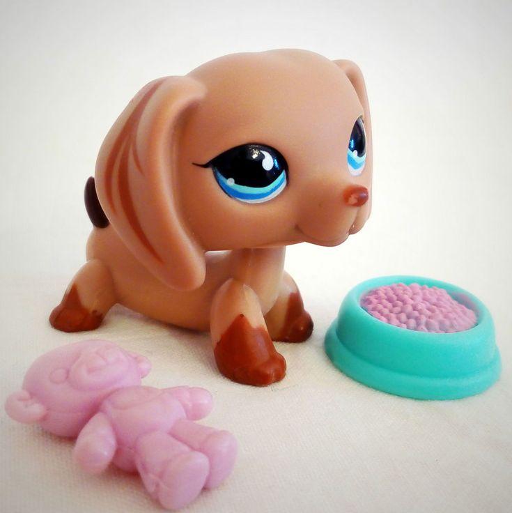 Littlest Pet Shop 518 Dachshund Sausage Dog LPS Toy HASBRO 2006 Teardrop eyes