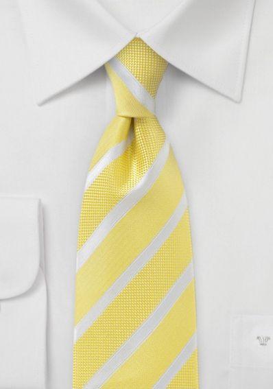 Linien-Krawatte goldgelb texturiert