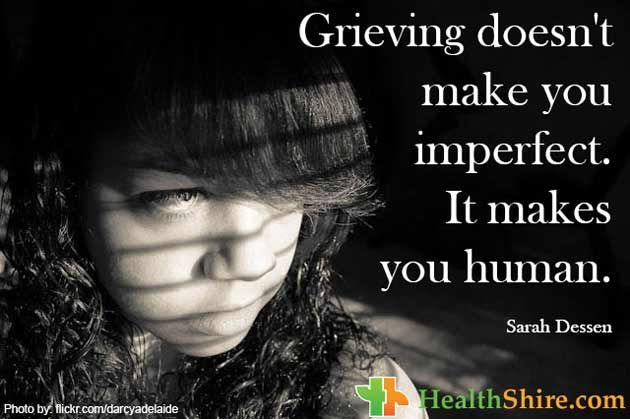 #Grieving doesn't make you imperfect. It makes you #human.