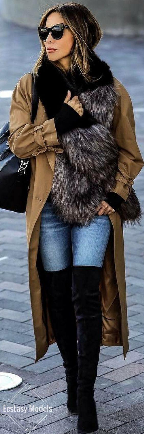 Faux Fur Scarf // Fashion Look by Sasha Simon