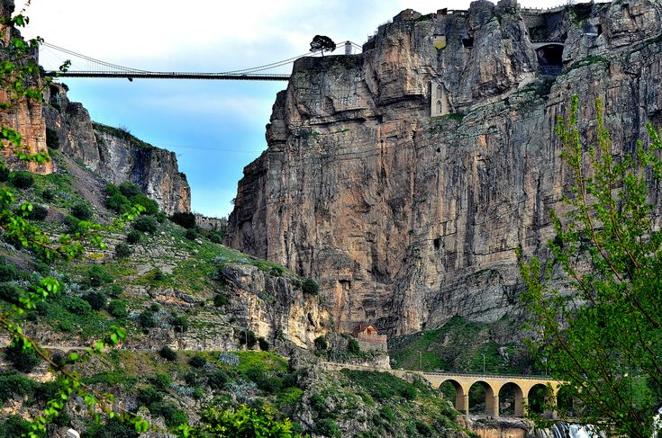 Rhumel canyon with three bridges in Constantine Algeria [4928  3264]