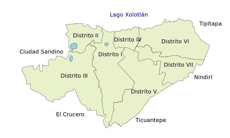 Distritos de Managua - Managua - Wikipedia, la enciclopedia libre