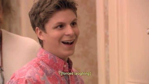 He laughs when things get awkward, which is frequently.   18 Times George Michael Bluth Understood You On A Personal Level