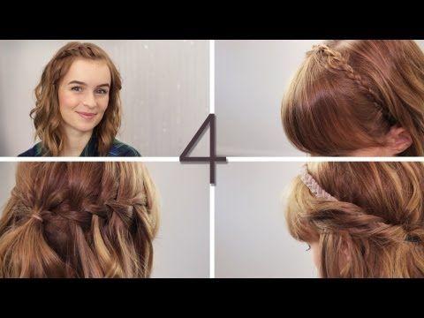 Haare 4 offene Flechtfrisuren - Wasserfall, zwirbeln, flechten - halboffende Wiesnfrisuren - YouTube
