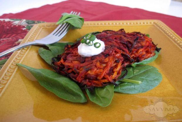 Beet Carrot Latkes Rosh Hashanah/Sukkot