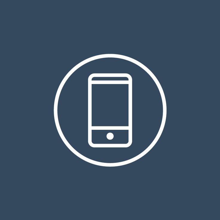 Fineline smartphone icon by ikono.me