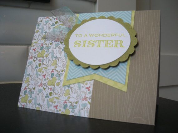 Easy Birthday Cards For Sister ~ Handmade birthday card for sister thank you by apaperaffaire diane s cards pinterest