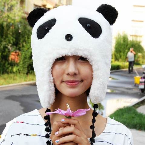 https://www.buyhathats.com/panda-costume-hats-with-ears-and-eyes-black-and-white-plush-hat.html