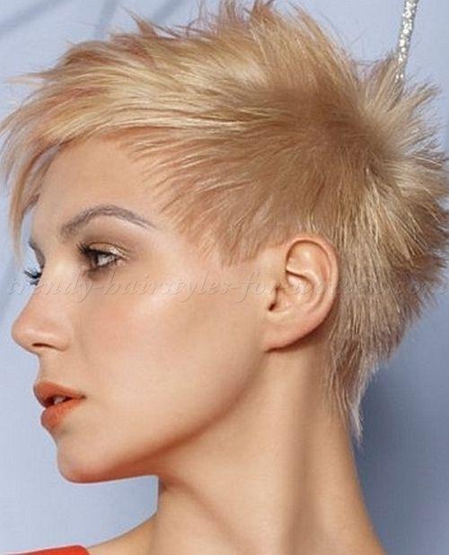 Super short punk hair