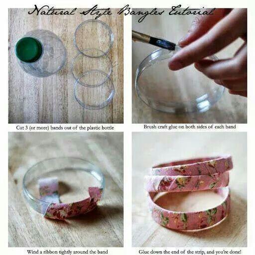 Armband maken van een plastic fles