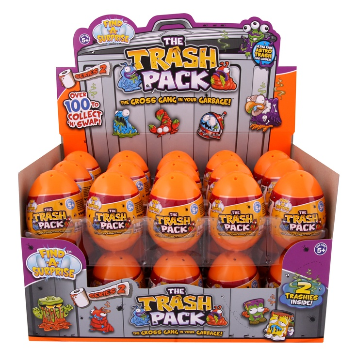 The Trash Pack is my ( and my grandson's) favorite small collectible.  Right now my blog features a giveaway with the The trash Pack can and two pack of trashies in an egg.  Ends soon - Check it out today.  http://www.grandmachronicles.com/2012/03/trash-pack-giveaway-one-of-my-favorites.html