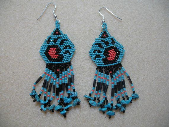 Beaded Bear Paw Earring By Simplyminedesigns On Etsy 49