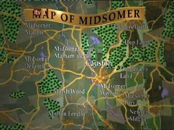 Midsomer Murders - Map of Midsomer
