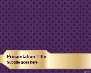 Plantilla PowerPoint con Textura Violeta es un diseño de fondo de diapositivas gratis para crear presentaciones elegantes en PowerPoint
