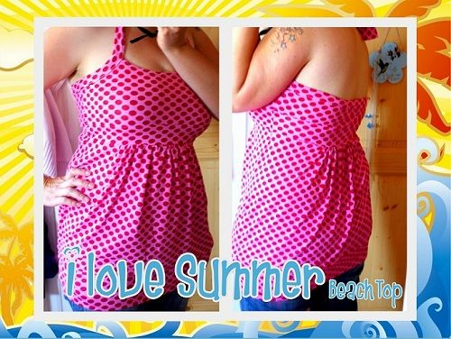 Le-Kimi: Freebook I LOVE SUMMER BEACH TOP S-XXL German