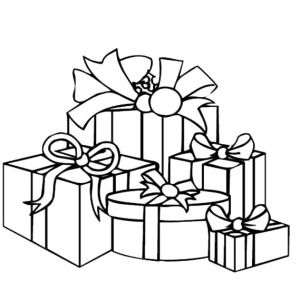 christmas presents various size of christmas presents coloring pages various size of christmas presents - Christmas Presents Coloring Pages