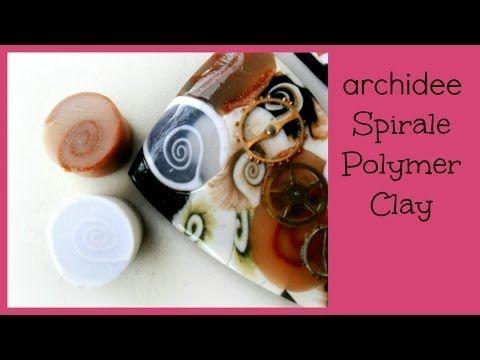 Polymer Clay Tutorial | Murrina Spirale Traslucida | Traslucent Spiral Cane | Easy | Principianti - YouTube