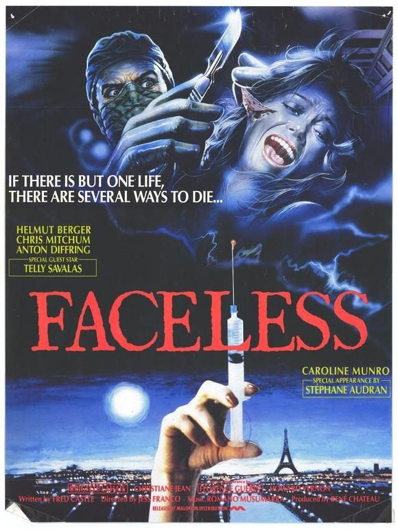 Faceless 1987 Horror Posters All Horror Movies Horror Movie Posters