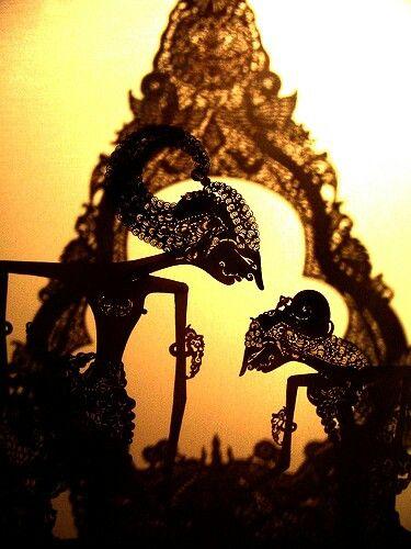 Tokoh pewayangan .wayang kulit Rama & shinta ASLI INDONESIA