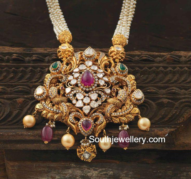 Pearls Mala with Nakshi Pendant
