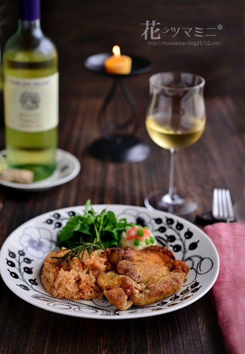フライドチキンとパプリカライス - friedchicken and paprikaRice