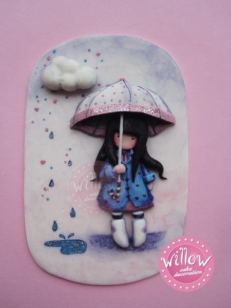 Gorjuss, fondant cake decortaion - by WillowCake @ CakesDecor.com - cake decorating website inspired by artists suzanne woolcott