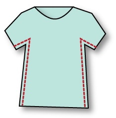 mmmcrafts: fix that T-shirt already.  Great for making a boys tee into one a bit more fitted for skinny toddlers.