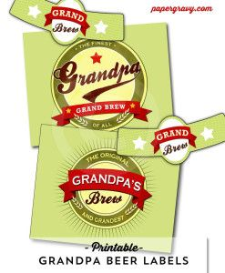 printable grandpa beer labels