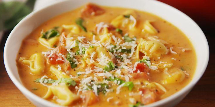Creamy Parmesan Tomato Tortellini Soup  This will be your new favorite way to eat tortellini.