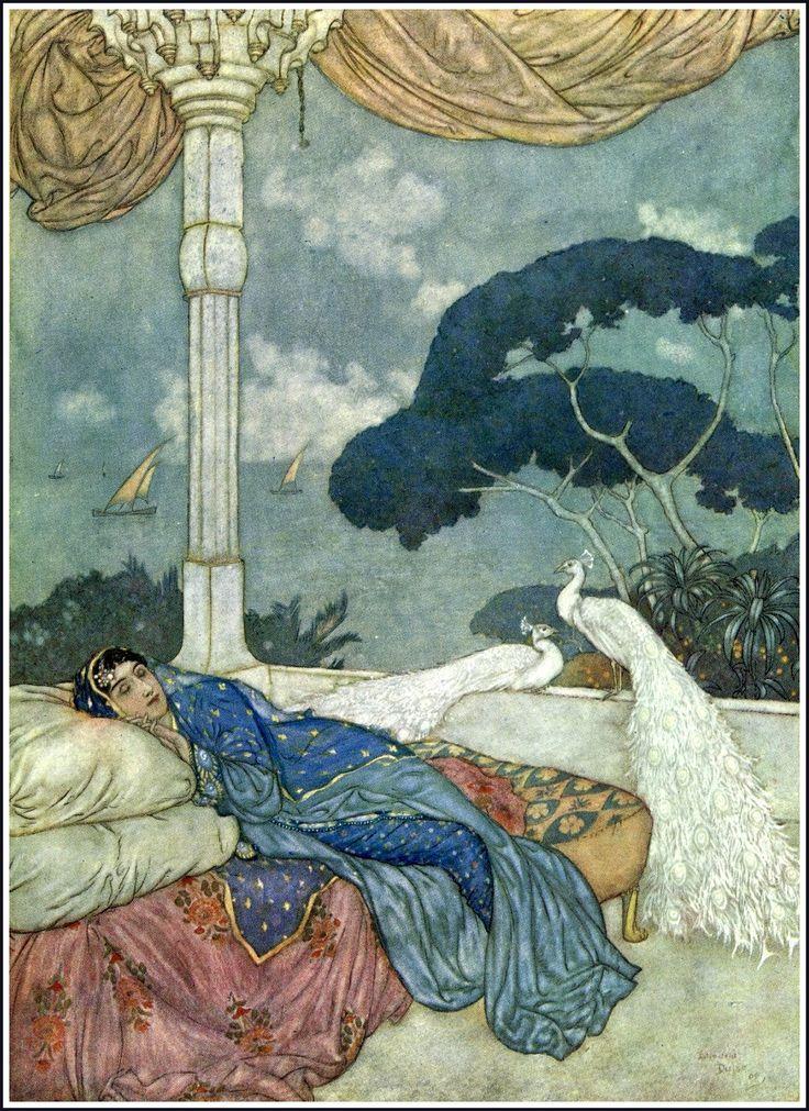 "PEACOCK'S GARDEN: Edmund Dulac (1882-1953) ""The Rubáiyát of Omar Khayyam"""