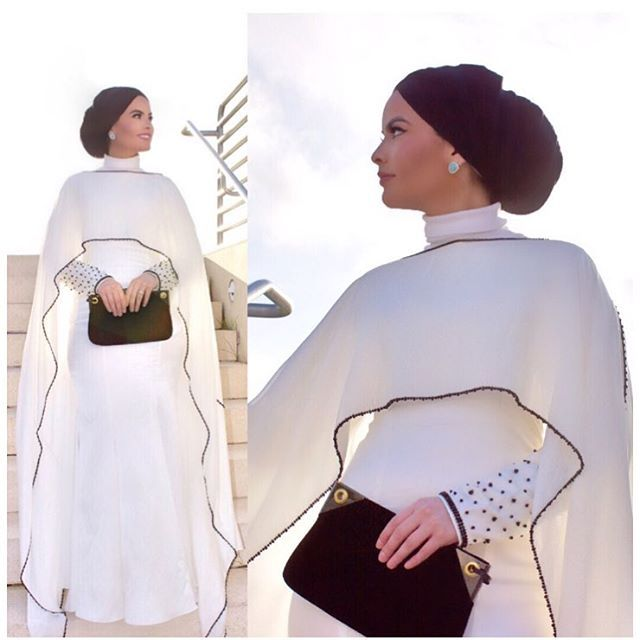 Follow @dubaifeminafashion Look like a QUEEN in Dubai Femina Fashion Two Piece Elegant Gown!! Now available on their website. Link to the website is in their bio. Color of the Gown & Embroidery can be changed upon request with no additional charge. Website www.dubaifeminafashion.com