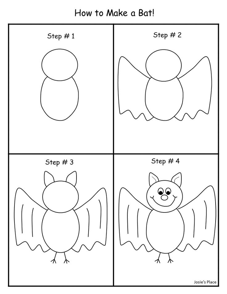 How to draw a bat!