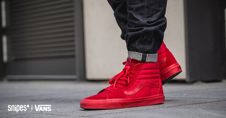 vans old school high all red