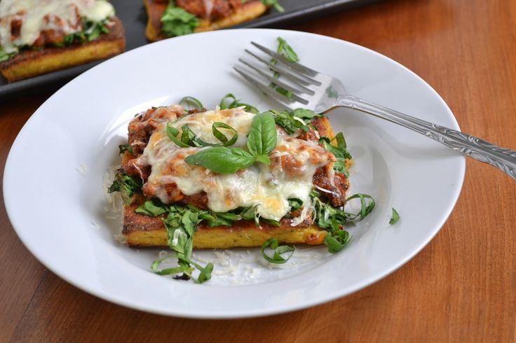 Polenta Lasagna....this looks insanely good....I've got everything to make this for supper tomorrow