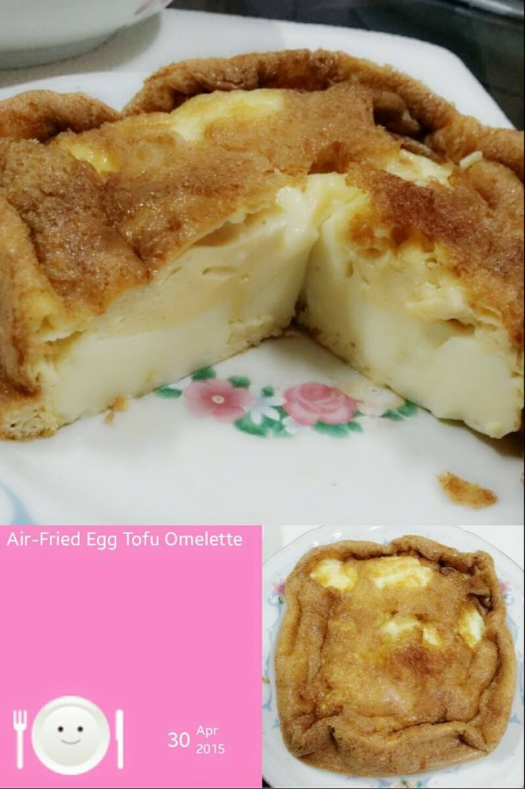 Singapore Home Cooks: Air-Fried Egg Tofu Omelette by Clara Fu