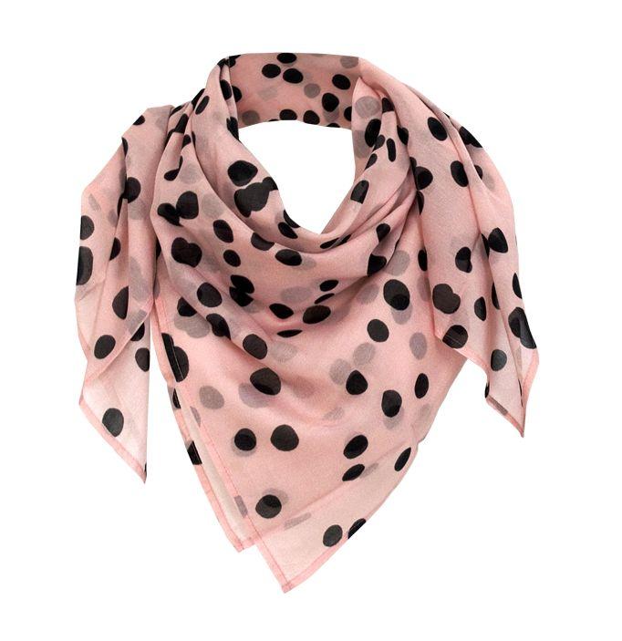"""Silk-Cotton Scarve in 100x100 cm """"bambi black"""" by studio nono http://studio-nono.net"""