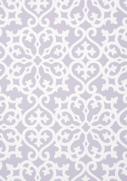 Allison #wallpaper in #lilac from the Graphic Resource collection. #Thibaut
