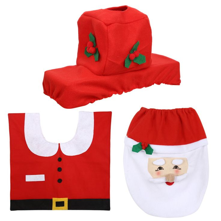 ASLT 1set HOMESTIA Red Non-woven Santa Toilet Set Christmas Decor Toilet Seat Cover Tissue Box Cover Tank Cover Rug Xmas Decor #>=#>=#>=#>=#> Click on the pin to check out discount price, color, size, shipping, etc. Save and like it!