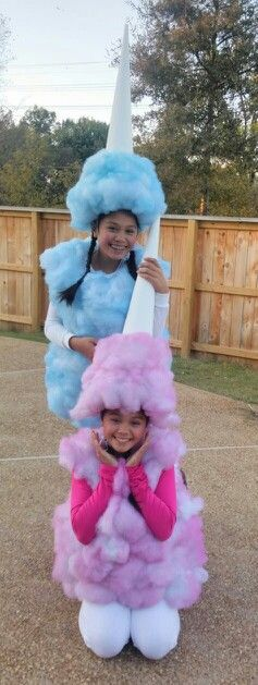 DIY Cotton Candy Halloween Costume Idea
