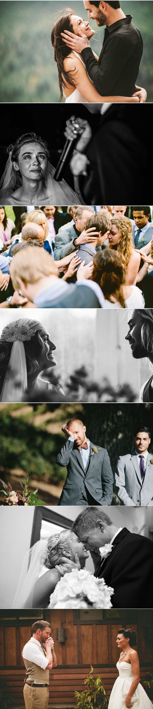 25 most emotional candid moments of brides & grooms in real weddings