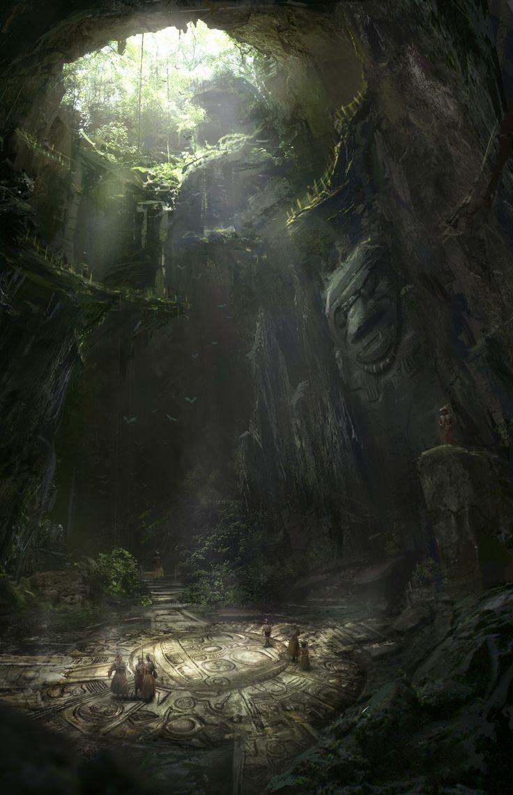 "fantasyartwatch: "" Forest Temple by Max Duran """