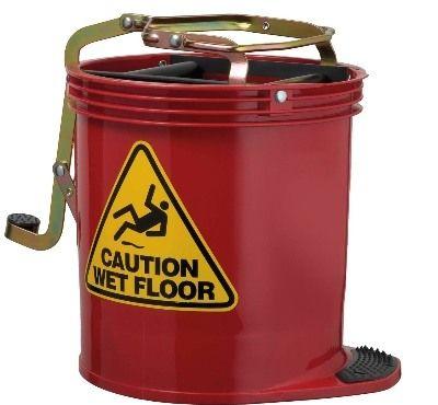 3-Wheel Mop Buckets Wringer with plastic handle #WashroomCleaning #bulkwholesale