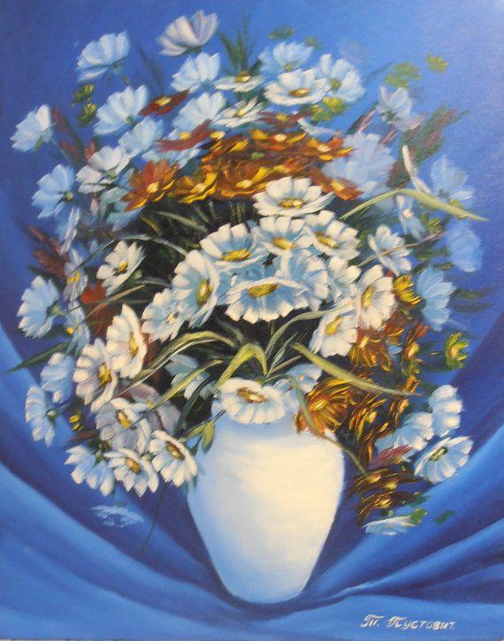 pictorial art Оil landscape impasto knife by ArtTatyana on Etsy, $190.00