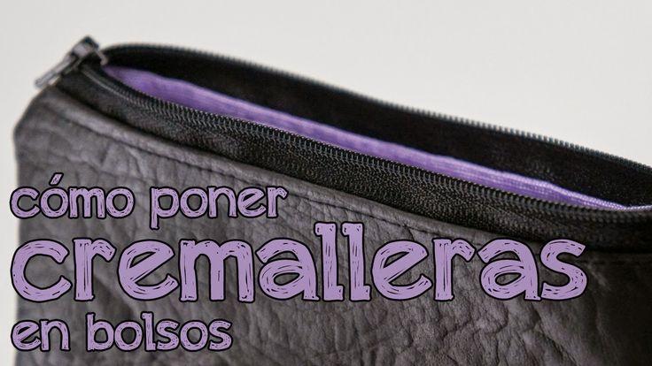 Cómo poner cremalleras en bolsos y monederos   Aprender manualidades es facilisimo.com