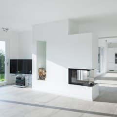 Minimalistische Wohnzimmer Bilder Offener Wohnraum Mit Kamin WohnzimmerWohnraumInnenarchitekturEinrichtungFacility
