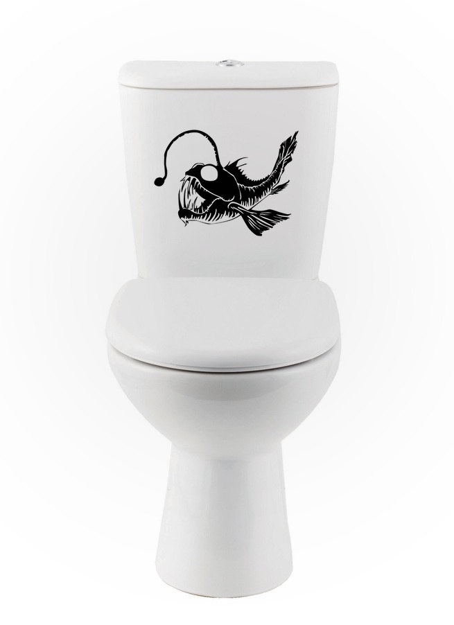 17 best images about angler fish tatoo on pinterest for Bathroom fish decor