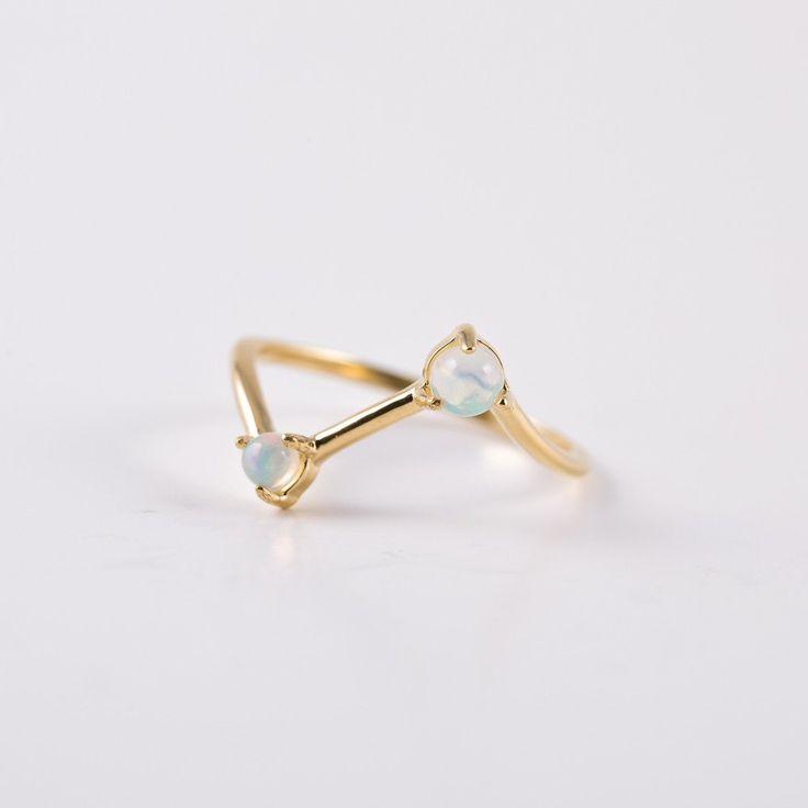 Kaleidoscope Opal Ring