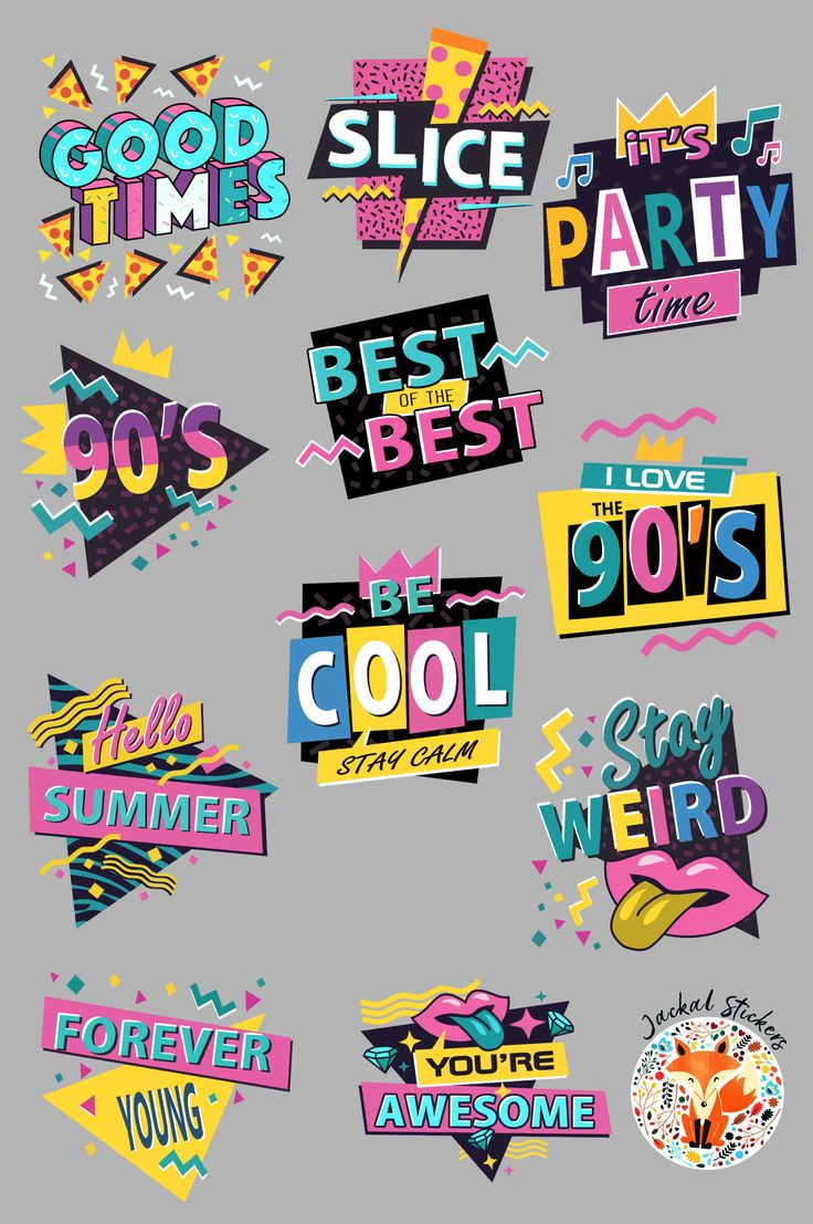 The 90's are BACK! Stickers in 2020 Stickers, Sticker