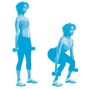 15-Minute Total Body Workout:  Do these 4 moves one after another with no rest in between. Complete the circuit 3 times, resting 1 minute between each circuit.